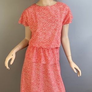 Vintage 80s Peplum Secretary Dress